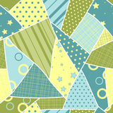 Patch seamless pattern. Vector Royalty Free Stock Photo