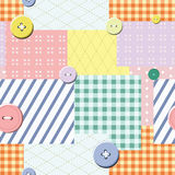 Patch seamless pattern. Vector. Illustration Stock Image