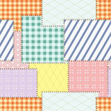Patch seamless pattern. Vector. Illustration Stock Images