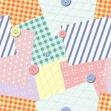 Patch seamless pattern. Vector. Illustration Stock Photo