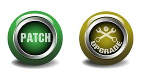Patch and upgrade buttons Stock Images