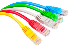 Patchcords With RJ45 Jacks Stock Photos
