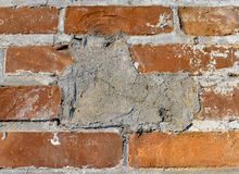 Patched brick wall Stock Images