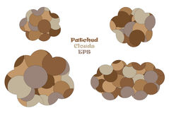 Patched clouds vector illustration set Stock Photos