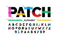 Patched font design royalty free illustration