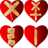 Patched heart Royalty Free Stock Photo