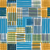 Patched lines seamless pattern. Stock Images