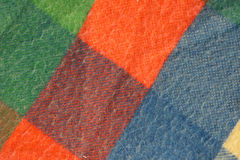 Patches of Color. Squares of a colored blanket royalty free stock photography