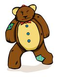 Patches the grumpy teddy bear Stock Images