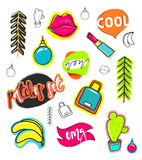 Patches hand draw, stickers collection. Fashion patch cartoon comic style Royalty Free Stock Photo