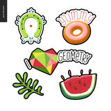 Patches hand drawn set Royalty Free Stock Photo