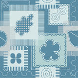 Patches and stitch seamless pattern Stock Photos