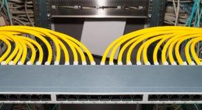Patchfield в datacenter для сетевых услуг Стоковые Изображения RF