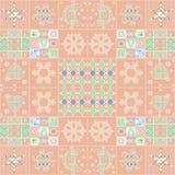 Patchworków bożych narodzeń bezszwowy wzór z elementu tłem Obraz Royalty Free