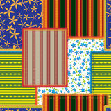Patchwork. Seamless pattern of the patchwork Stock Images