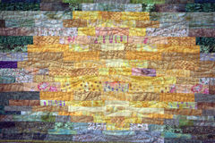 Patchwork. Multi-colored patchwork quilt - detail stock photography