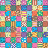 Patchwork. Vector abstract background of patchwork art Stock Image