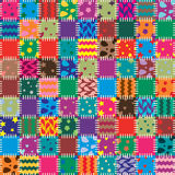 Patchwork. Vector abstract background of patchwork art Stock Images