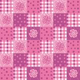 Patchwork. Abstract decorative patchwork with flowers Royalty Free Illustration