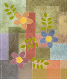 Patchwork. Inspired illustration of flowers and leaves Royalty Free Stock Photos