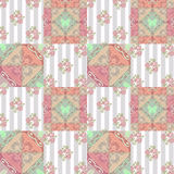 Patchwork abstract seamless floral pattern background Royalty Free Stock Photography