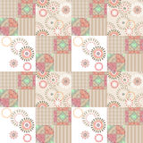 Patchwork abstract seamless floral pattern background Royalty Free Stock Photos