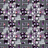 Patchwork abstract seamless floral, pattern texture light background with decorative elements. Royalty Free Stock Photography