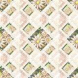 Patchwork abstract seamless , pattern texture light background . Royalty Free Stock Photography