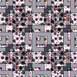 Patchwork abstract seamless , pattern texture light background . Stock Photography