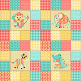 Patchwork african animals Stock Image