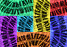 Patchwork of African fabrics Stock Photography