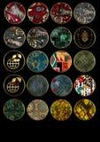 Patchwork african pattern grunge vintage, retro background. Patchwork african pattern grunge print vintage, retro background vector illustration