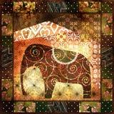 Patchwork african pattern grunge vintage, retro background. Patchwork african pattern grunge print vintage, retro background stock illustration
