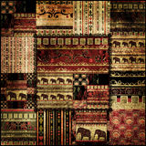 Patchwork african pattern print background Royalty Free Stock Image