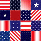 Patchwork of american flag. Seamless background pattern. Patchwork of american flag Royalty Free Stock Photography
