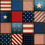 Patchwork of American flag Stock Image