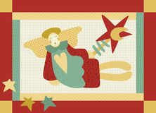 Patchwork Angel Stock Image