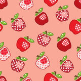 Patchwork apple seamless Royalty Free Stock Photography