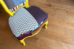 Patchwork armchair Stock Photography