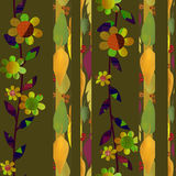 Patchwork autumn floral pattern background Stock Images