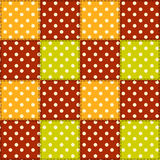 Patchwork autumn pattern 5. Royalty Free Stock Photos
