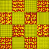 Patchwork autumn pattern 2. Royalty Free Stock Image