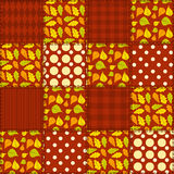Patchwork autumn pattern 4. Royalty Free Stock Image