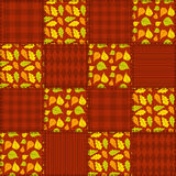 Patchwork autumn pattern 1. Royalty Free Stock Photo