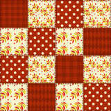 Patchwork autumn pattern 3. Royalty Free Stock Photos