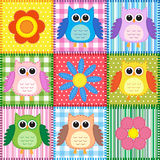 Patchwork background Stock Image