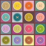 patchwork background with buttons Stock Photography