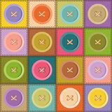 patchwork background with buttons Stock Images