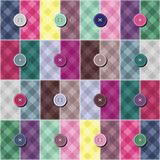 Patchwork background with buttons Royalty Free Stock Photography