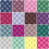 Patchwork background with checked patterns Royalty Free Stock Image